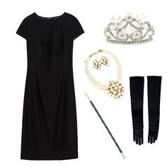 Turn your LBD into an Audrey Hepburn/Breakfast at Tiffany's costume with a few quick styling tricks