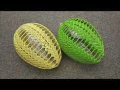 Easter Crochet Patterns, Crochet Videos, Easter Crafts, Happy Easter, Easter Eggs, Balloons, Make It Yourself, Pillows, Jar