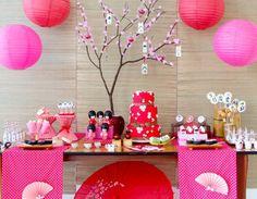 a cultura japonesa é tema de uma festa infantil delicada e charmosa