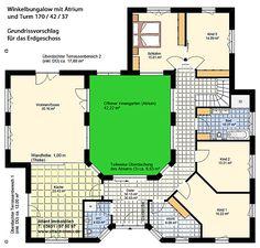 Atrium 7 2 Winkelbungalow Turm 170 42 37 Einfamilienhaus Neubau Massivbau Stein auf Stein