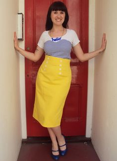 Usually not much for yellow, but I LOVE this skirt