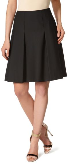 Black Collection Pleat-Front Skirt thestylecure.com