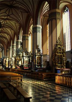 Frombork Cathedral (Poland) .. [ Not spiritually, aesthetically ]. I think I just really like the lighting and that checkerboard floor =].