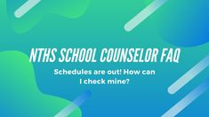 A video tutorial I made for my students at NTHS. Schedules for the school year are now available - how are you going to get them? You are in the right place! Learn how to access you schedule and make any changes in this 2 minute video. High School Counseling, School Counselor, Schedule, I Can, Students, How To Get, Tools, Learning, Videos