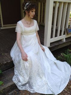 The Ornamented Being - reproduction Regency gown