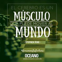 #BuenDía #OceanoRD #AmamosLaLectura #FrasesQueInspiran #Quote #FelízLunes #StephenKing