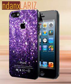 Glitter purple apple logo  iPhone 4/4s/5/5s/5c Case  by NdanxlariZ, $15.00
