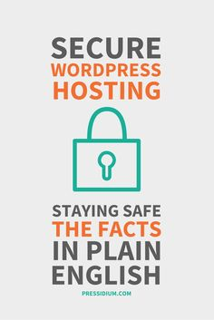 Secure WordPress Hosting can be confusing to decipher. Delve into why Pressidium has got your back when it comes to securing your WordPress website. Wordpress, Website Security, Security Tips, Online Work, Knowledge, Advice, Words, Blogging, Fountain