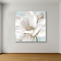 Flower Painting Canvas, Oil Painting Flowers, Flower Canvas, Flower Art, Flower Plants, Nature Artwork, Big Flowers, Diy Art, Canvas Art Prints