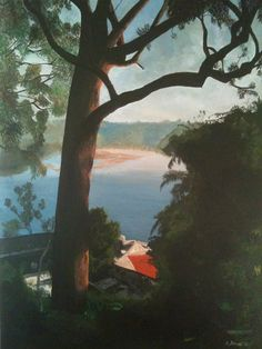 From Griffin Pde.  Oil on canvas  Approx 92x150cm.  by Rachel Schwer