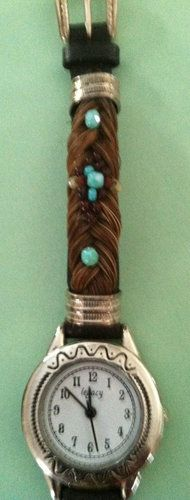 Brown Horse Hair Watch with Teal Beading | eBay