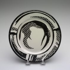 RISD Museum: Roy Lichtenstein, designer, American, 1923-1997; Durable Dish Company, manufacturer, American; Jackson China, manufacturer. Salad Plate, 1966. transfer-printed earthenware. 20.3 cm (8 inches) (diameter). Gift of Judith Nelson 85.034