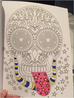 Adults Coloring Book Sugar Skull Design Flowers Animals Stress Relief Patterns
