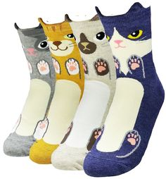Cats And Dogs Cute Crazy Cat Dog Womens Teen Girls Ankle Socks Birthday Gifts