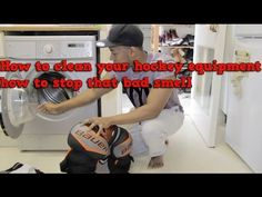 How to clean your ice hockey equipment and prevent it stinking. I show you how to wash hockey pads and stop that bad smell building up Full article - http://...