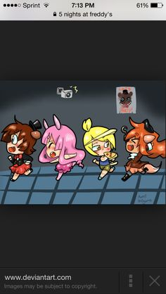 Freddy, Bonny, Chica, and Foxy