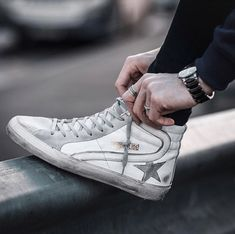 Overalls For Mens Fashion Italian Sneakers, Italian Shoes, Mens Fashion Blog, Fashion Shoes, Men's Shoes, Shoes Sneakers, Mens Designer Shoes, Sneaker Boots, Golden Goose