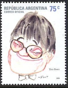 Estampilla en homenaje a Tato Bores (Mauricio Borensztein)