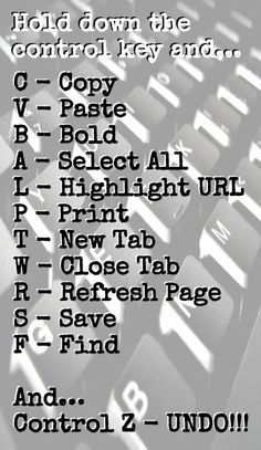 Keyboard shortcuts for the computer 💻 For Windows, Chrome, Firefox. Check Alice's site for Mac keyboard shortcuts. Life Hacks For School, School Study Tips, School Tips, School Ideas, Writing Skills, Writing Tips, Typing Skills, Lifehacks, Schul Survival Kits