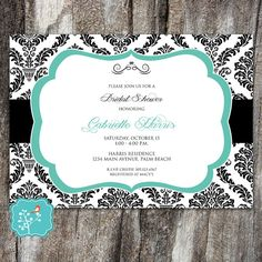 Breakfast at Tiffany's Invitation Birthday by AFlairForPaper