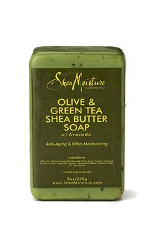 Shea Moisture Olive & Green Tea Shea Butter Soap ~ softest skin ever! Love this soap. Avocado oil makes the difference. Homemade Moisturizer, Homemade Skin Care, Organic Skin Care, Natural Skin Care, Natural Beauty, Natural Facial, Natural Soaps, Natural Makeup, Natural Hair