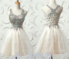 New Style Homecoming Dresses,Short Prom Gown,Homecoming Gowns With Straps, V Neckline Party Dress,Cu on Luulla Dresses Short, Hoco Dresses, Prom Party Dresses, Dance Dresses, Pretty Dresses, Beautiful Dresses, Dress Outfits, Dress Up, Formal Dresses
