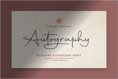 Autography - A new signature font with a smooth shapes and upright calligraphic style. Very usable for creating logotype, autographs or digital signature for Handwriting Fonts, Script Fonts, Typography Fonts, All Fonts, Hand Lettering, Digital Signature, Signature Fonts, Wedding Fonts, Simple Quotes