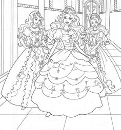 kids coloring sheets   Barbie And The Diamond Castle ...