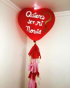 Heart balloons quieres ser mi novia?