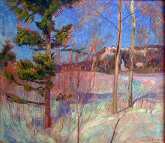 Thorvald ERICHSEN. Winter, 1908. Art Connection, Nordic Art, Muse Art, Museum, Seascape Paintings, Scenery, Artist, Artwork, Lillehammer