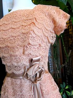 Fluffy Layers of LACE 1950s COCKTAIL DRESS by prettypennyclothing, $125.00