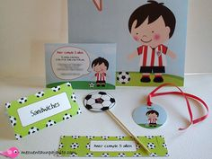 Kit cumpleaños futbolista. athletic de Bilbao