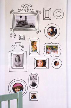 Maneira muito divertida de expor suas fotos na parede ou em um painel. Adorei!!! Veja mais dicas de decoração para a sua festa nos painéis da Tudo De Bem. www.tudodebem.com.br