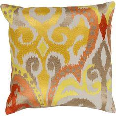 Surya 18 Radiant Swirl Pillow in Multicolor