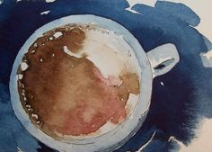 two of my favorite things... watercolor and coffee