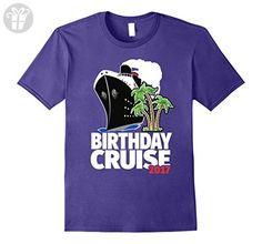 Mens Birthday Cruise 2017 T-Shirt - For Birthday Cruisers Medium Purple - Birthday shirts (*Amazon Partner-Link)