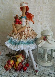 Купить Тильда Кухонная фея - рыжий, тильда кукла, тильда, кукла Тильда ♡