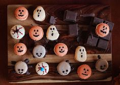 These mischievous macarons are delightfully spooky.