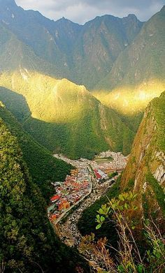 Aguas Calientes is a town in Peru on the Urubamba River. It is the closest access point to the historical site of Machu Picchu, which is 6 kilometres away.