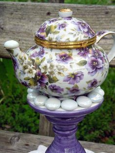Love The Flowers On This Teapot.......
