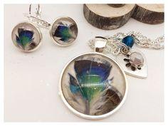 Blue Feathers Set Blue Feathers, Perfect Match, Cufflinks, Drop Earrings, Jewellery, Accessories, Fashion, Moda, Jewels