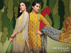 Khaadi Embroidered Lawn Collection 2016