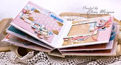 Elena Morgun: Graphic45 mini album/Мини-альбом для девочки