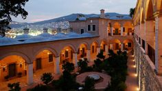 Indulge your senses at the Imaret, a monument to Ottoman-era opulence overlooking the seaside Greek town of Kavala. Greek Town, Macedonia, Seaside, Greece, Scenery, Mansions, House Styles, Places, Travel