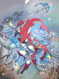 Sidon (Breath of the Wild) - Zelda no Densetsu: Breath of the Wild - Image - Zerochan Anime Image Board The Legend Of Zelda, Legend Of Zelda Breath, Link Zelda, Film Manga, Anime Manga, Deco Gamer, Prince Sidon, Botw Zelda, Wind Waker