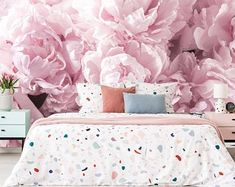 Tender Peony Wallpaper, floral wallcovering dramatic floral wall mural, self adhesive, Bouquet of white peony removable Wallpaper Vintage Flowers Wallpaper, Flower Wallpaper, Kids Wallpaper, Fabric Wallpaper, Playroom Decor, Bedroom Decor, Master Bedroom, Kids Wall Murals, Traditional Wallpaper