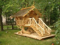 That's the treehouse I always wanted as a boy!. | WoodworkerZ.com