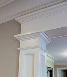 Adding columns in the foyer gives a beautiful first impression