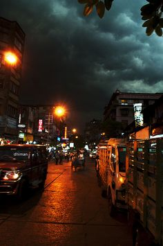 monsoon clouds over Kolkata, West Bengal