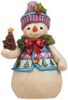 Jim-Shore-for-Enesco-Heartwood-Creek-Pint-Sized-Snowman-with-Pinecone-Figurine